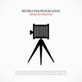 Retro photo symbol. Retro photo camera vector symbol Stock Photos