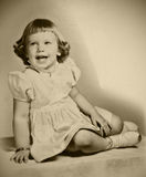 Retro Photo Young Girl Stock Image