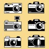 Retro photocameras vector set Royalty Free Stock Photos