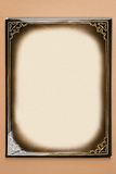 Retro photoframe del cartone Immagine Stock