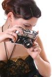 Retro photograph woman Stock Image