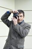 Retro photographer Stock Image
