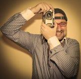 Retro photographer Royalty Free Stock Photography