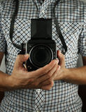 Retro photographer Royalty Free Stock Photo