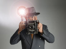 Retro Photographer Royalty Free Stock Photography