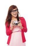 Retro photographer Royalty Free Stock Image