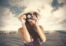 Retro photographer Stock Photography