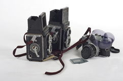 Retro photography cameras Stock Photos