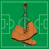 Retro piłka nożna buty Zdjęcie Stock