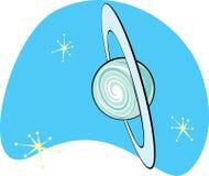 Retro pianeta Uranus Immagine Stock