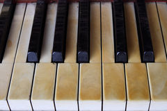 Retro piano Stock Afbeelding