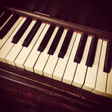 Retro piano keys Royalty Free Stock Photos