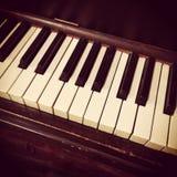 Retro piano keys Royalty Free Stock Photos