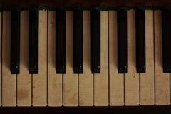 Retro piano. Musica. Tastiere fotografie stock libere da diritti