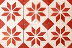 Retro piastrelle per pavimento tailandesi Fotografie Stock