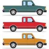 Retro pickup, car, set of pickup trucks Royalty Free Stock Photos