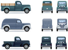 Retro pickup trucks Royalty Free Stock Photos