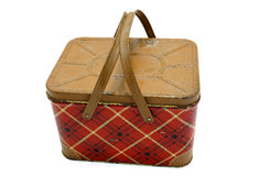 Retro picnic basket Stock Images