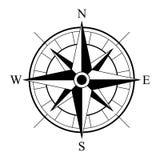 Retro pictogram van het stijlkompas, wind nam uitstekend kompaspictogram toe royalty-vrije illustratie