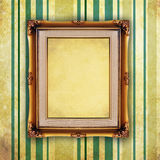 Retro picture frame on old wall Stock Photo