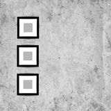 Retro picture frames on grunge wall for your Royalty Free Stock Photo