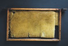 Retro picture of an old beehive stock images