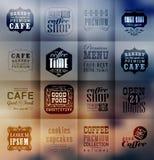 Retro piekarni etykietki, typografia i Obrazy Royalty Free