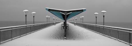 Retro pier at boscombe beach stock image