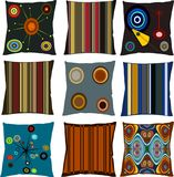 Retro pillows Stock Image