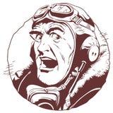 Retro pilot. Stock illustration. Stock Photo