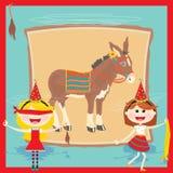 Retro Pin the tail on the Donkey Birthday Party Stock Photos