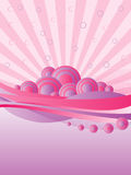 Retro Pink Background Stock Photography