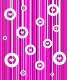 Retro pink background. White hearts wallpaper Royalty Free Stock Photography