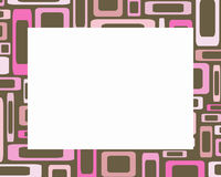 Retro pink and brown rectangles frame. Great for scrapbooking Royalty Free Stock Photos
