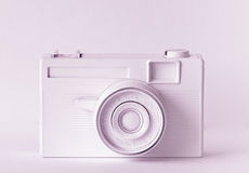 Retro pink camera Royalty Free Stock Photo