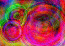 Retro pink circular batik Stock Photography
