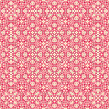 Retro pink flowers on a beige background Stock Photos