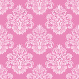 Retro pink seamless damask Wallpaper Royalty Free Stock Image