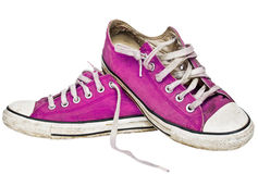 Retro pink sneakers Royalty Free Stock Image