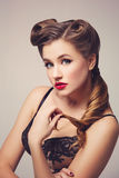 Retro pinup girl Royalty Free Stock Images