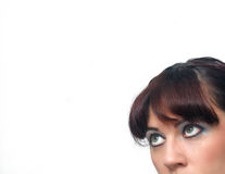 Retro Pinup Girl, Headshot (4) Stock Photos