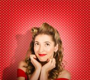 Retro pinup model. Beauty and fashion copyspace Royalty Free Stock Image