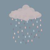 Retro pioggia Immagine Stock Libera da Diritti
