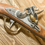 retro pistola drewno Obraz Royalty Free