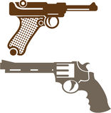 Retro pistols Royalty Free Stock Photo