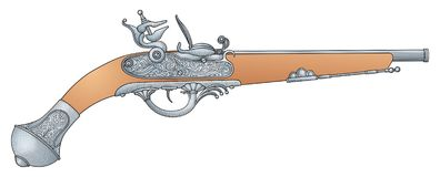 Retro pistool vector illustratie