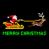 Retro pixel art Christmas Santa Royalty Free Stock Photos