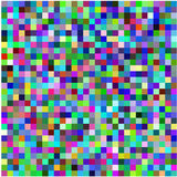 Retro pixel multicolored abstract patroon Stock Fotografie