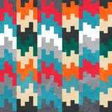 Retro pixels seamless pattern Stock Photo