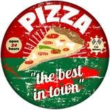 Retro pizza Stock Photo